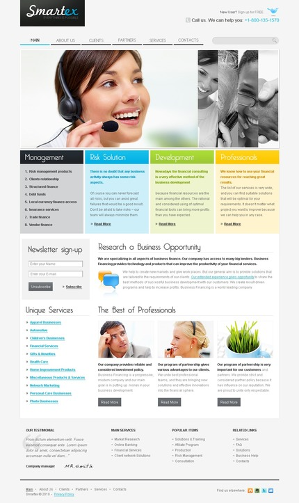 PSD макет сайта №56213