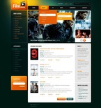 56336 Portal, Entertainment, Media, Flash Animated, CSS, Flash 8, Wide Templates PSD Templates