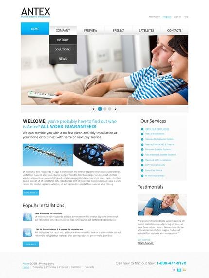 PSD макет сайта №56350