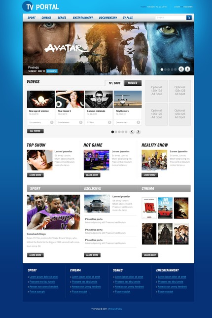 PSD макет сайта №56486