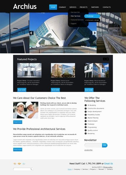 PSD макет сайта №56561