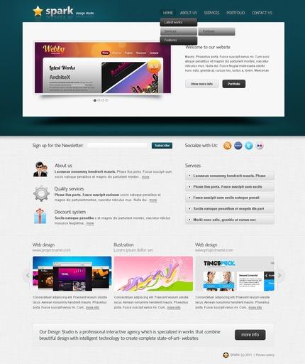 PSD макет сайта №56569