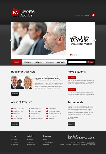 PSD макет сайта №56584