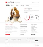56620 Animals & Pets, Full Site, CSS, Flash 8, Wide Templates, jQuery Templates, HTML 5 PSD Templates