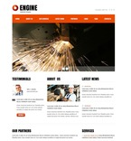 56747 Industrial, Full Site, CSS, Flash 8, Wide Templates, HTML 5 PSD Templates