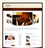 56929 Music, Education, Full Site, CSS, Wide Templates, jQuery Templates, HTML 5 PSD Templates