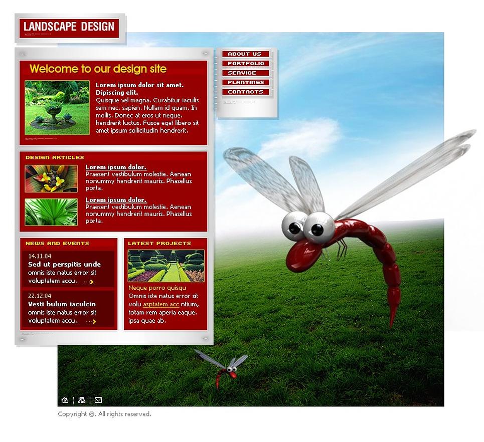 Landscape design flash template 5709 for Garden design questions