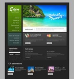 57049 Travel, Full Site, CSS, Wide Templates, jQuery Templates, HTML 5 PSD Templates