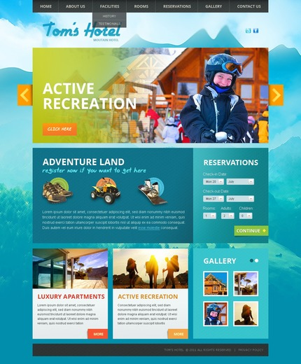 Website template 57230