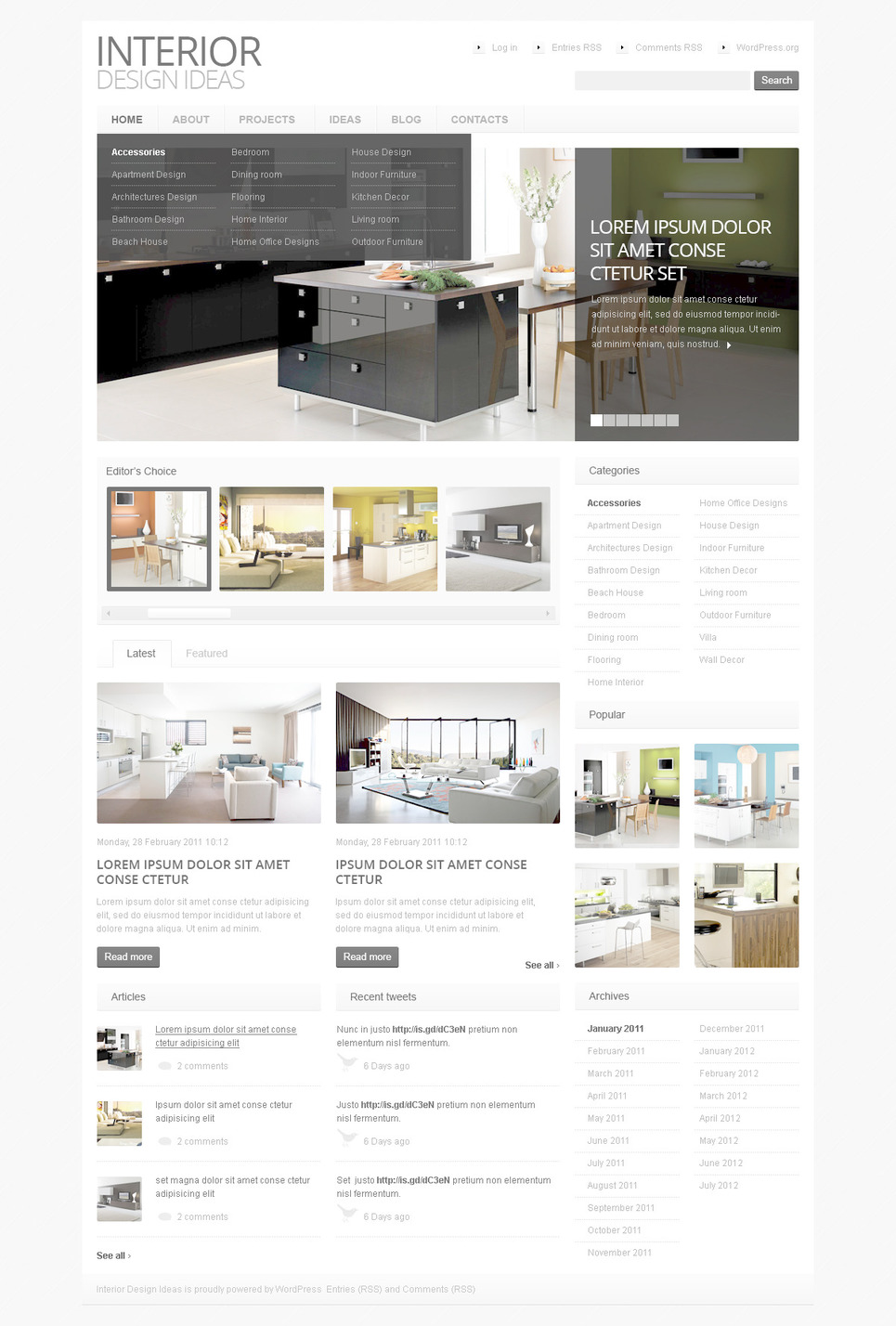Дизайн wordpress-сайта