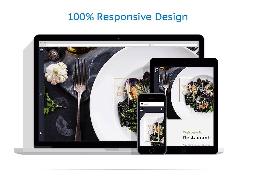 Шаблон сайта ресторана на Joomla - YOOT