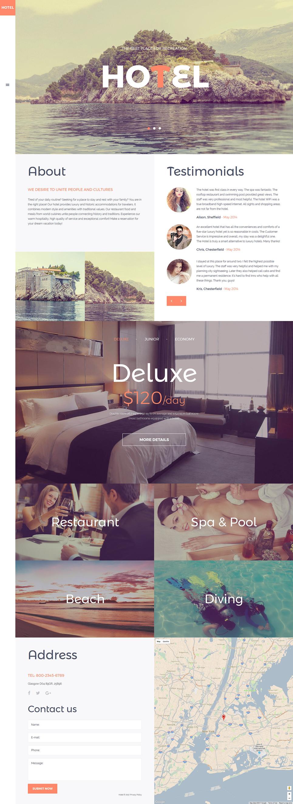 joomla hotel template - template 57561 ensegna themes