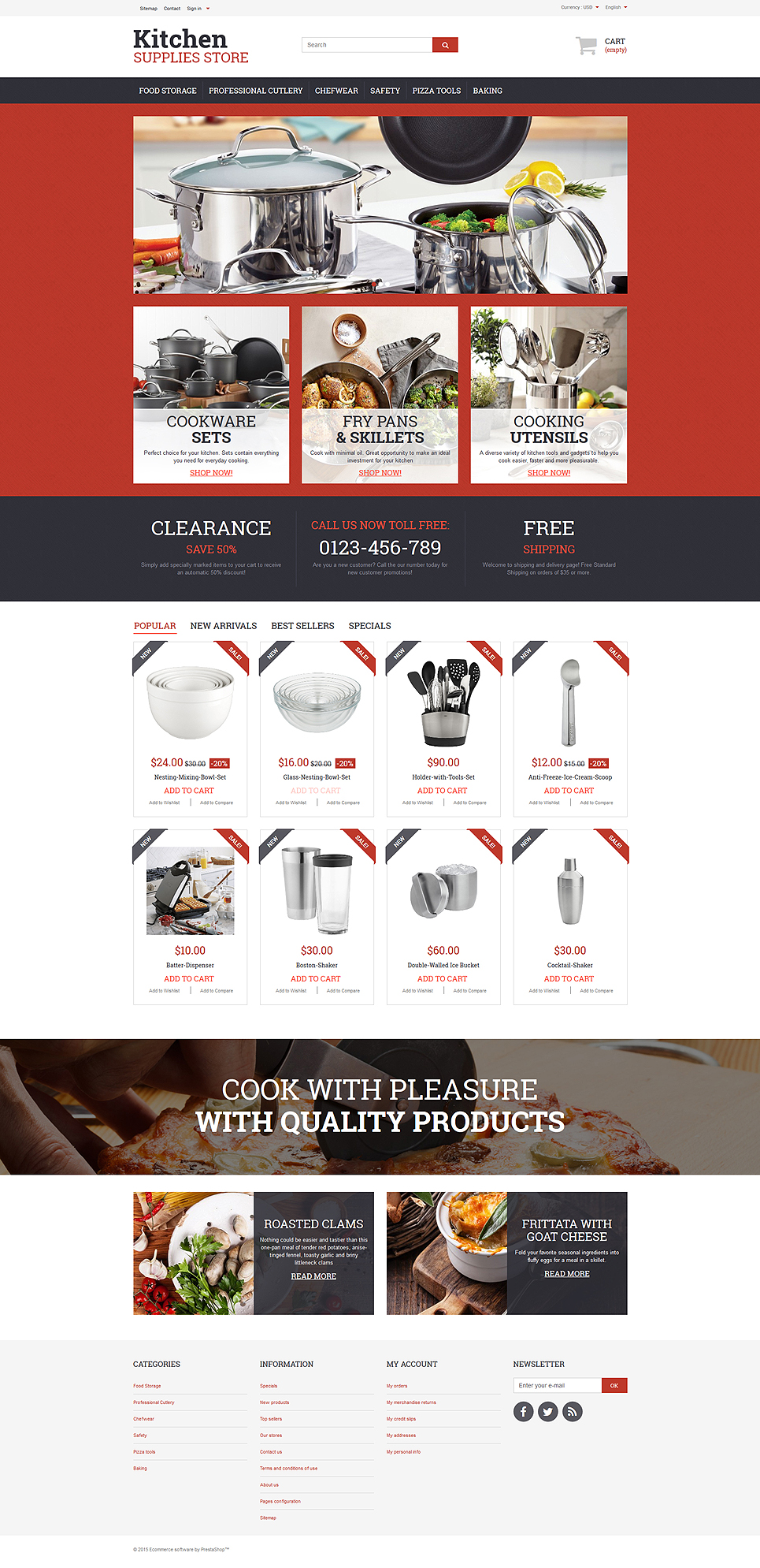 Housewares Responsive PrestaShop Theme | Templates - Buy Website ...