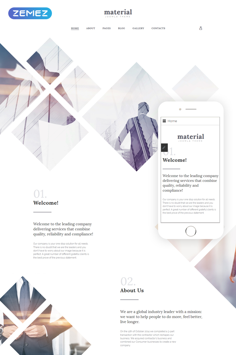 business centre Joomla template