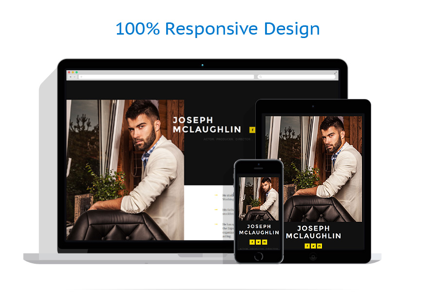 personal page responsive landing page template 57994. Black Bedroom Furniture Sets. Home Design Ideas