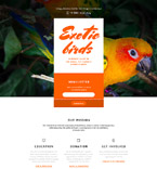 58015 Animals & Pets Landing Page Templates