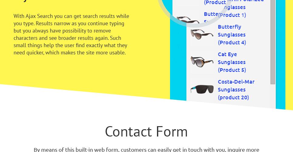 sunglasses opencart template