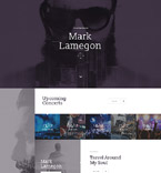 58249 Music Landing Page Templates
