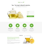 58269 Food & Drink Landing Page Templates