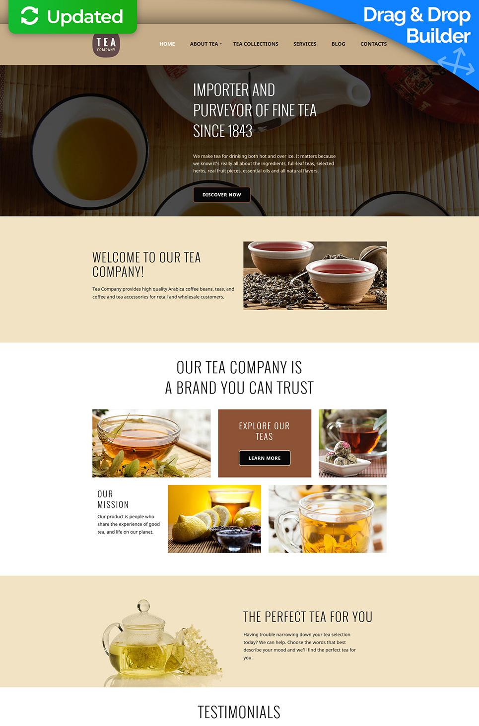 Responsive Website für Teeladen