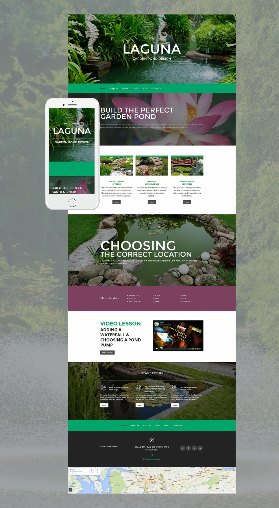 Gardening services site theme
