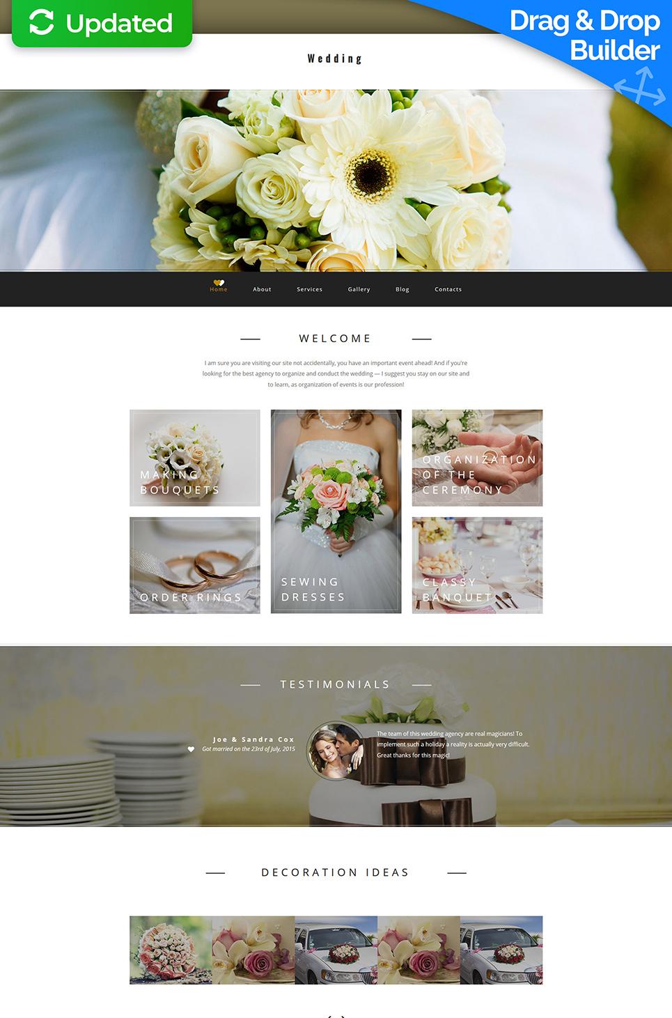 Marriage agency web theme