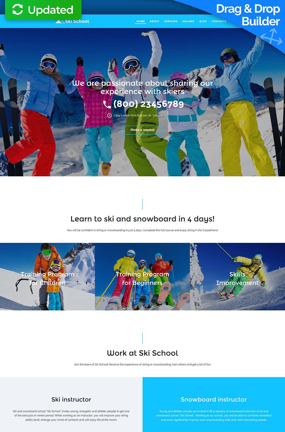 Homepage-Vorlage für Skischule