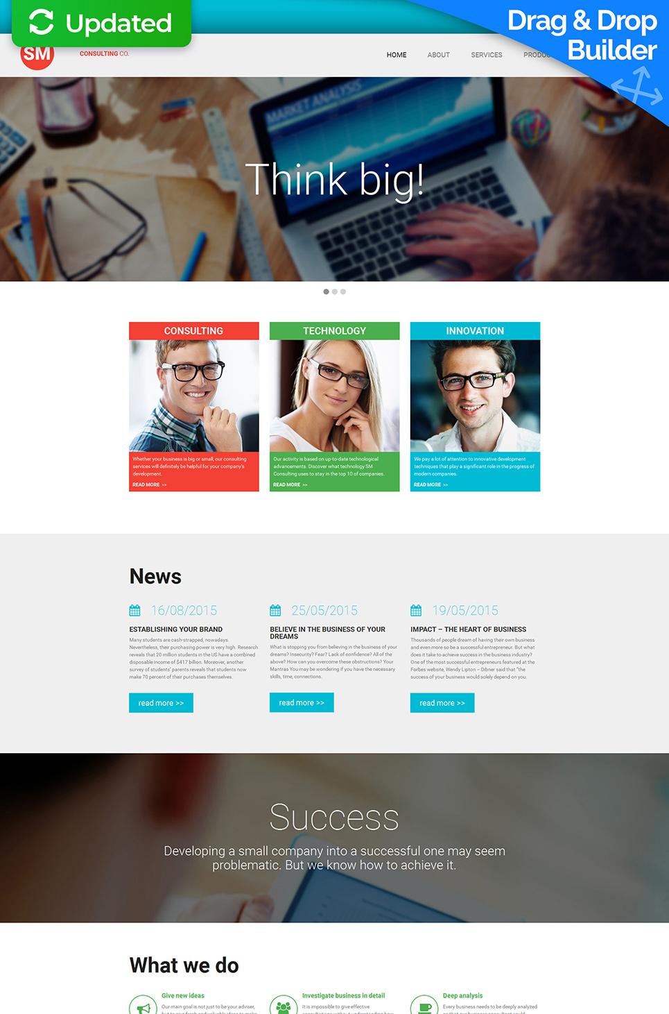Tema de sitio web gris para una compañía de consultas - image