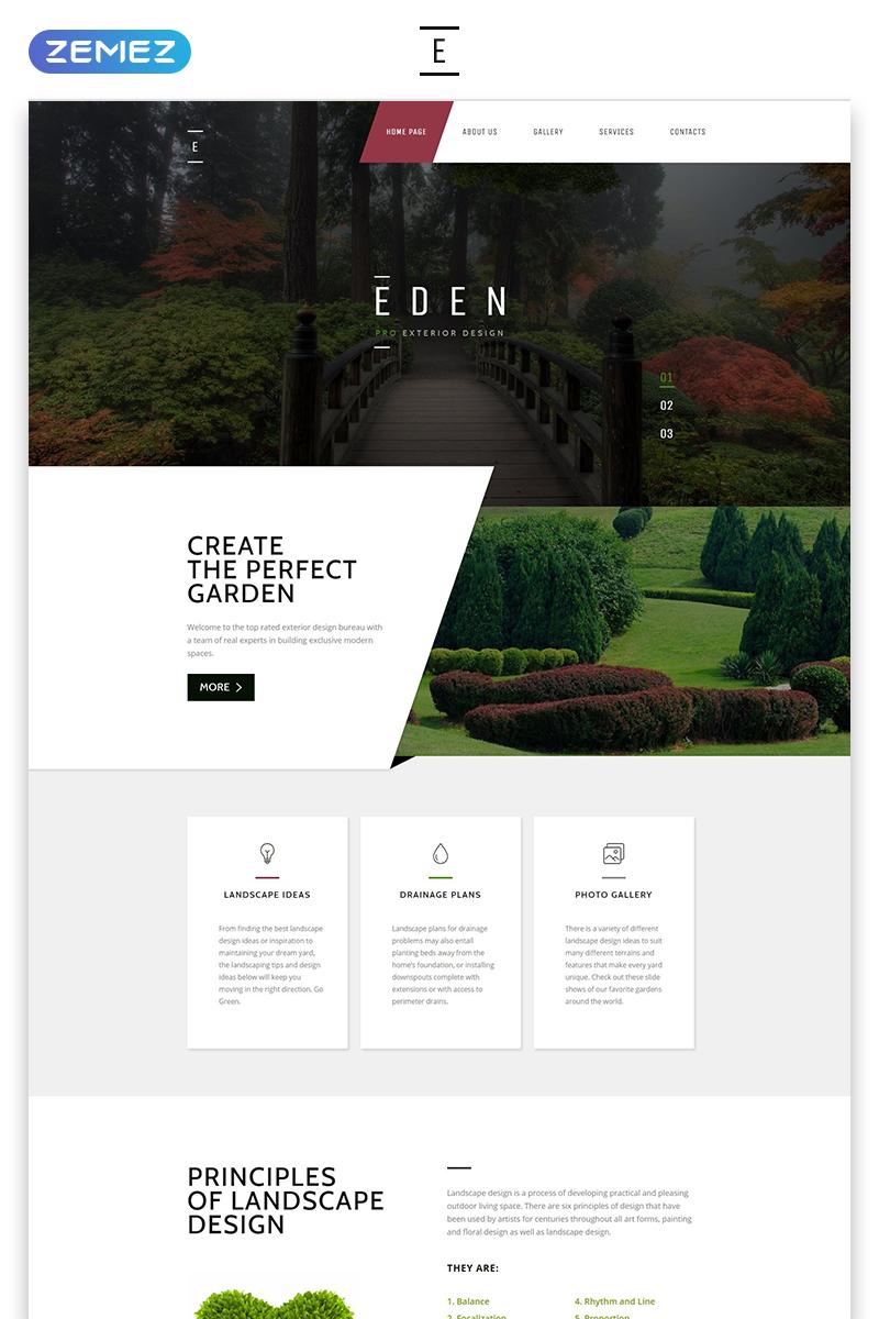 Garden Design Responsive Website Template 58440