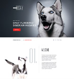 58457 Animals & Pets Landing Page Templates