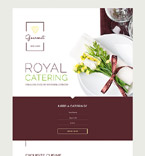 58458 Food & Drink Landing Page Templates