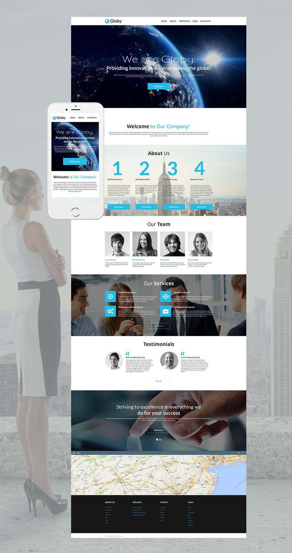 Professional site for enterprises