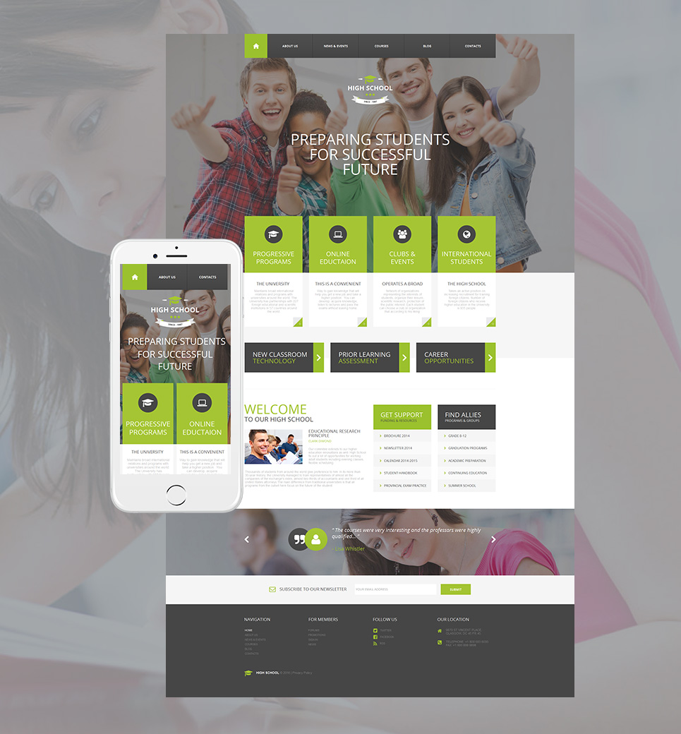 Education MotoCMS HTML Template #58469 - image