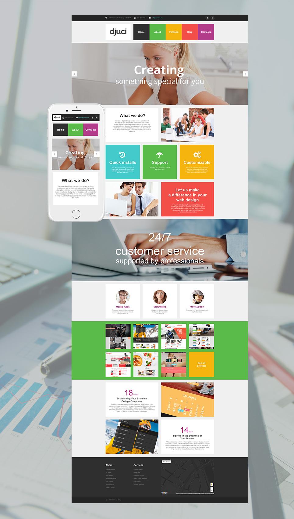MotoCMS HTML Plantilla #58470 de categoría Diseño Web - image