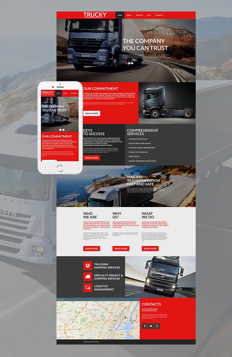 Transportation MotoCMS HTML Template #58471 - image