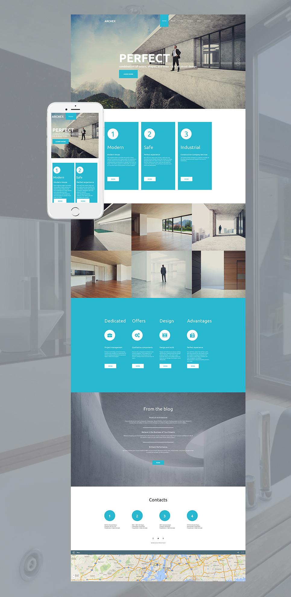 MotoCMS HTML Plantilla #58473 de categoría Arquitectura - image
