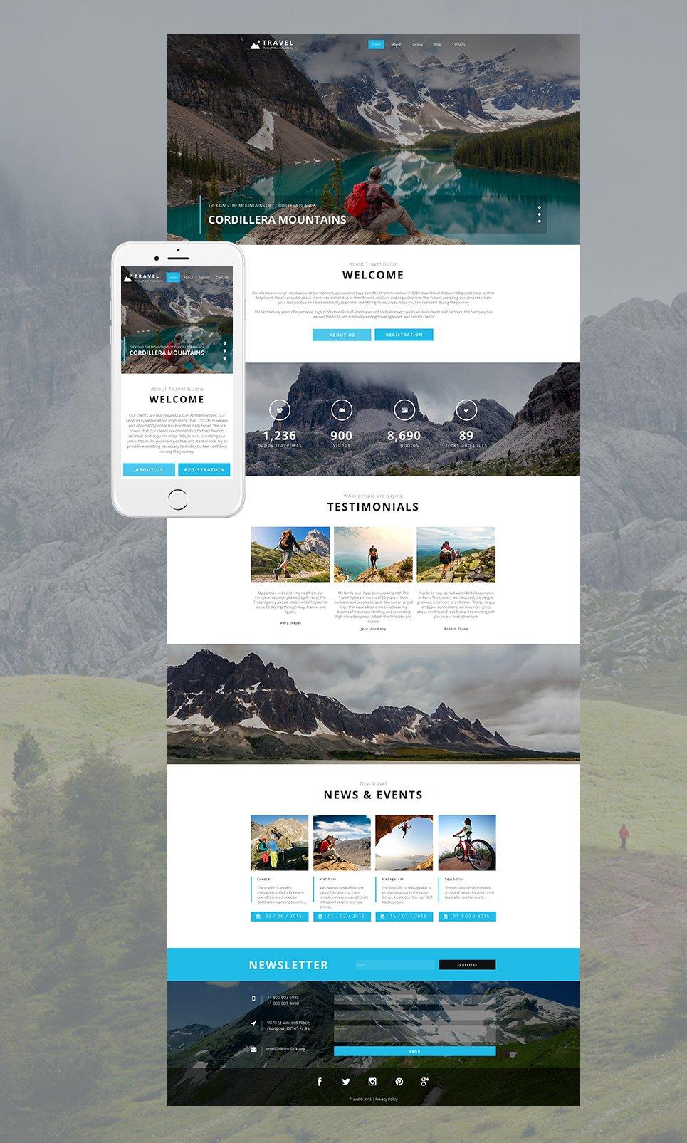 MotoCMS HTML Шаблон #58474 из категории Путешествия - image
