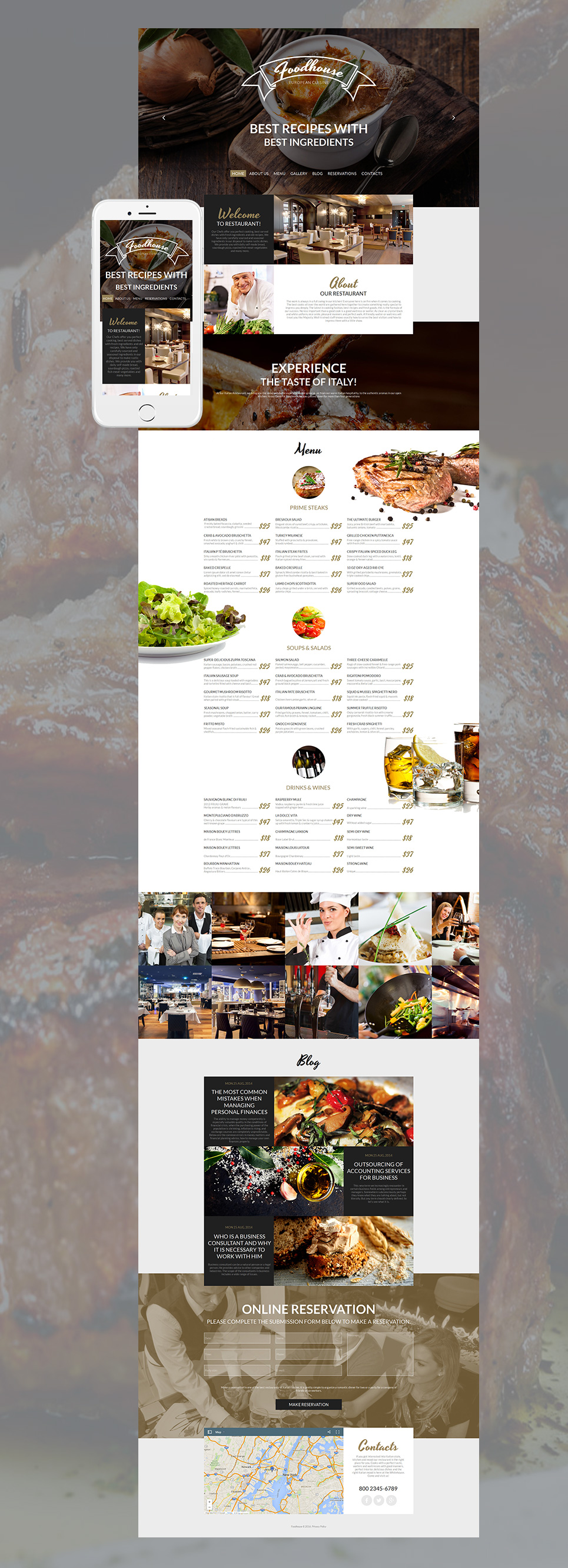 Cafe and Restaurant MotoCMS HTML Template #58475 - image