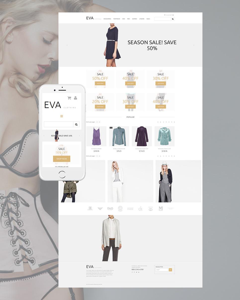 Responsywny szablon komercyjny #58481 z kategorii Moda - image