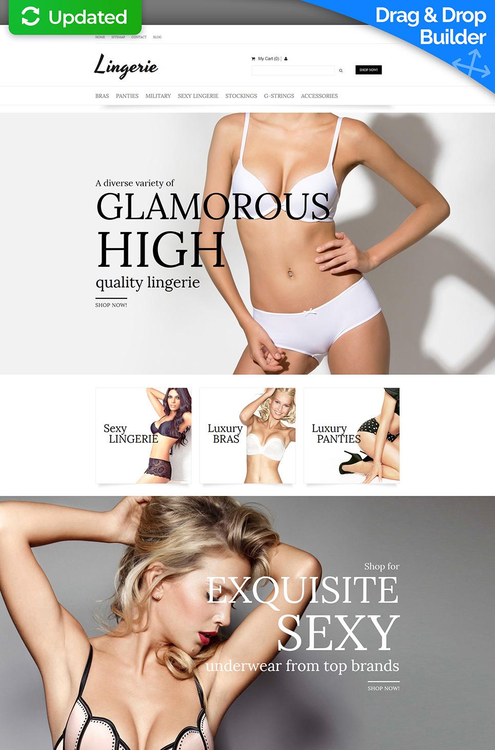 La plantilla eficaz de comercio electrónico #58482 de categoría Moda y Belleza - image