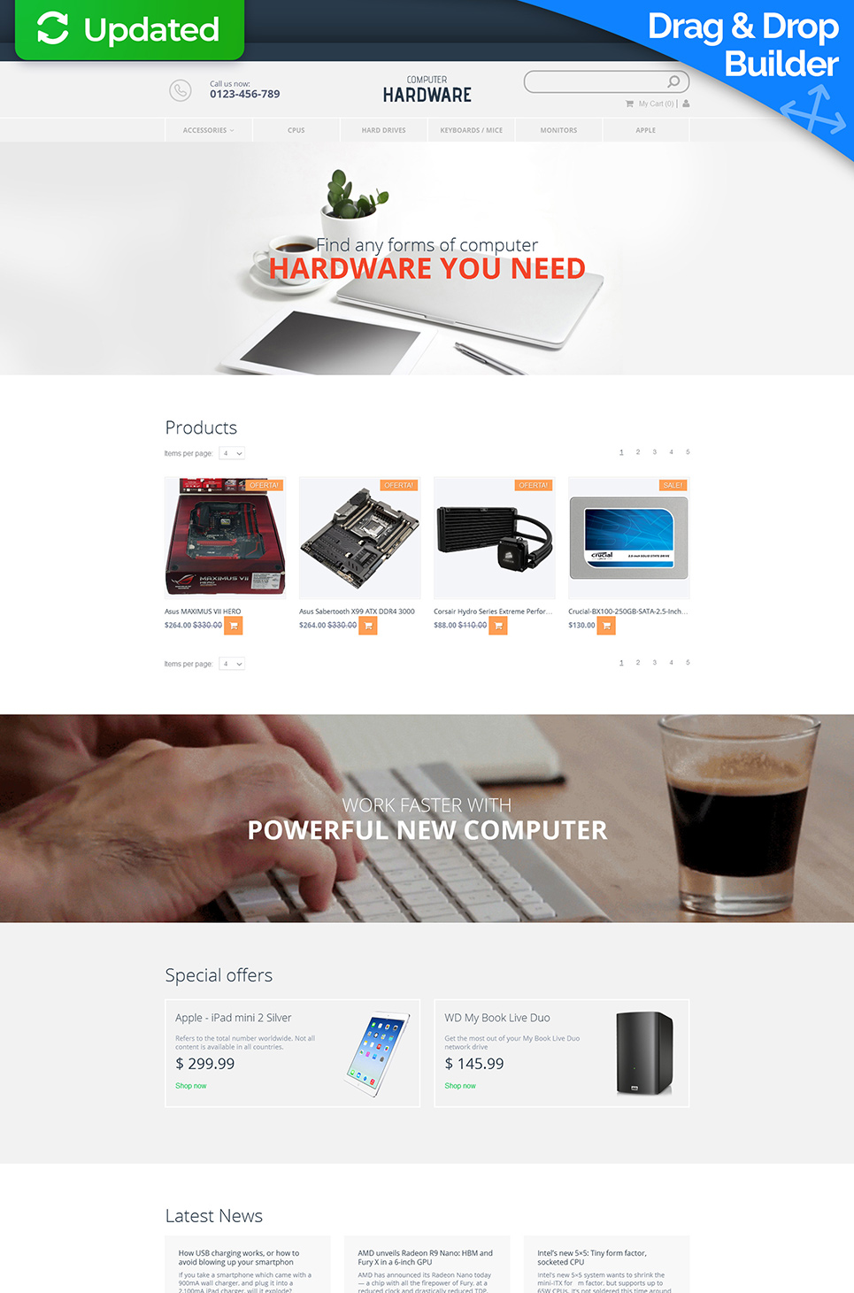 Computers Responsive Ecommerce Template #58486 - image