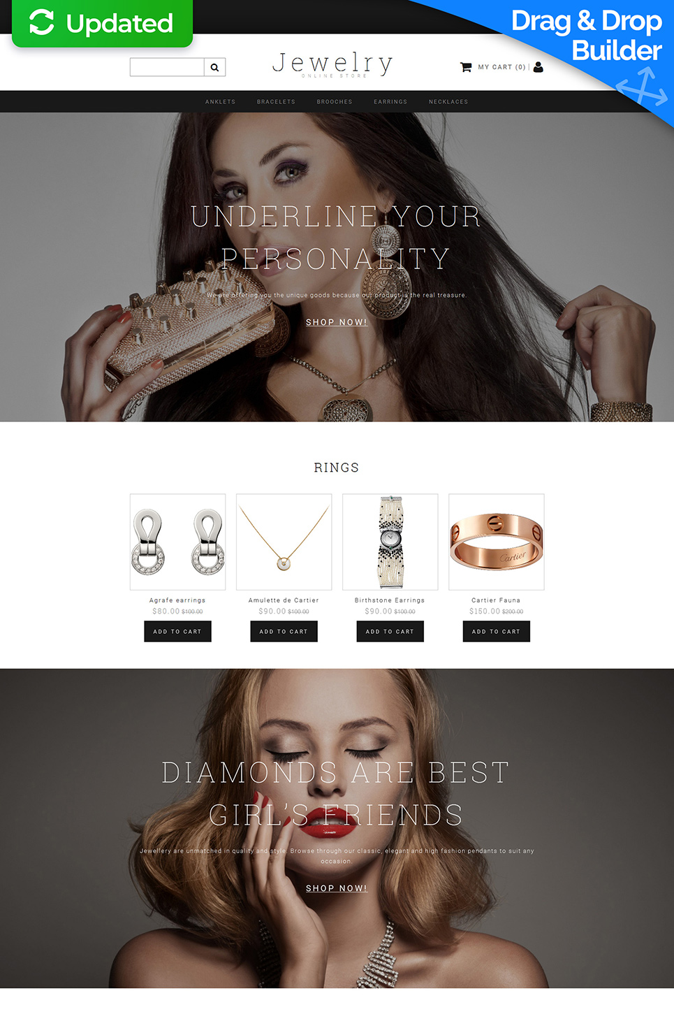 Jewelry Responsive Ecommerce Template #58487 - image