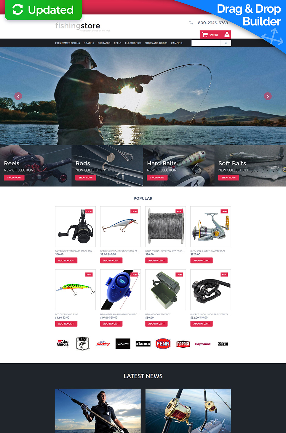 Sport Responsive Ecommerce Template #58488 - image