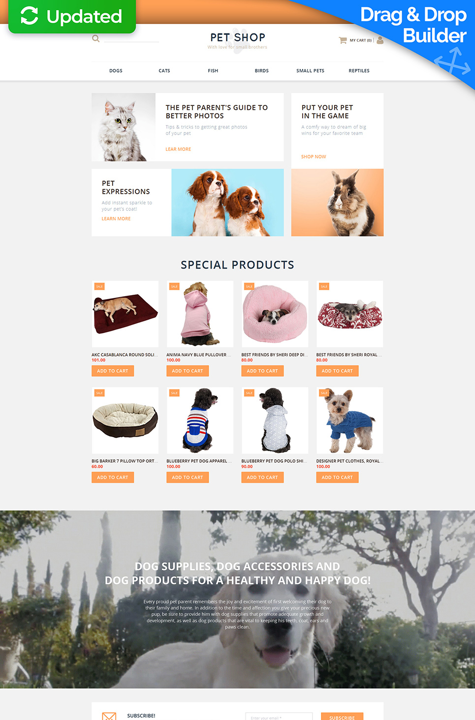 Animals & Pets Responsive Ecommerce Template #58489 - image