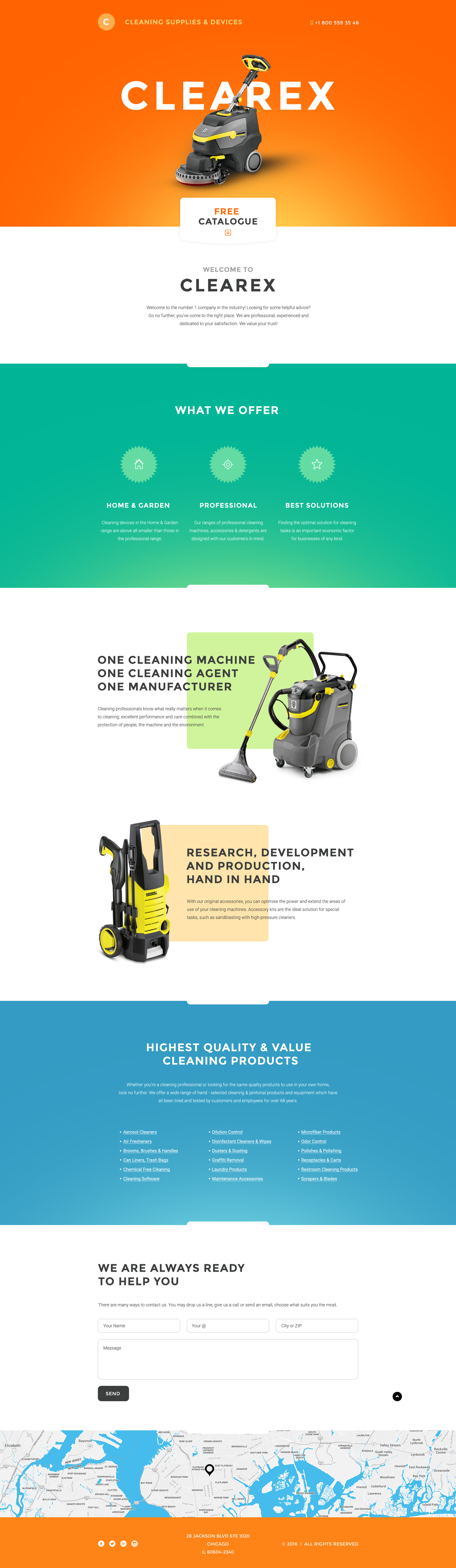 cleaning products landing page template. Black Bedroom Furniture Sets. Home Design Ideas