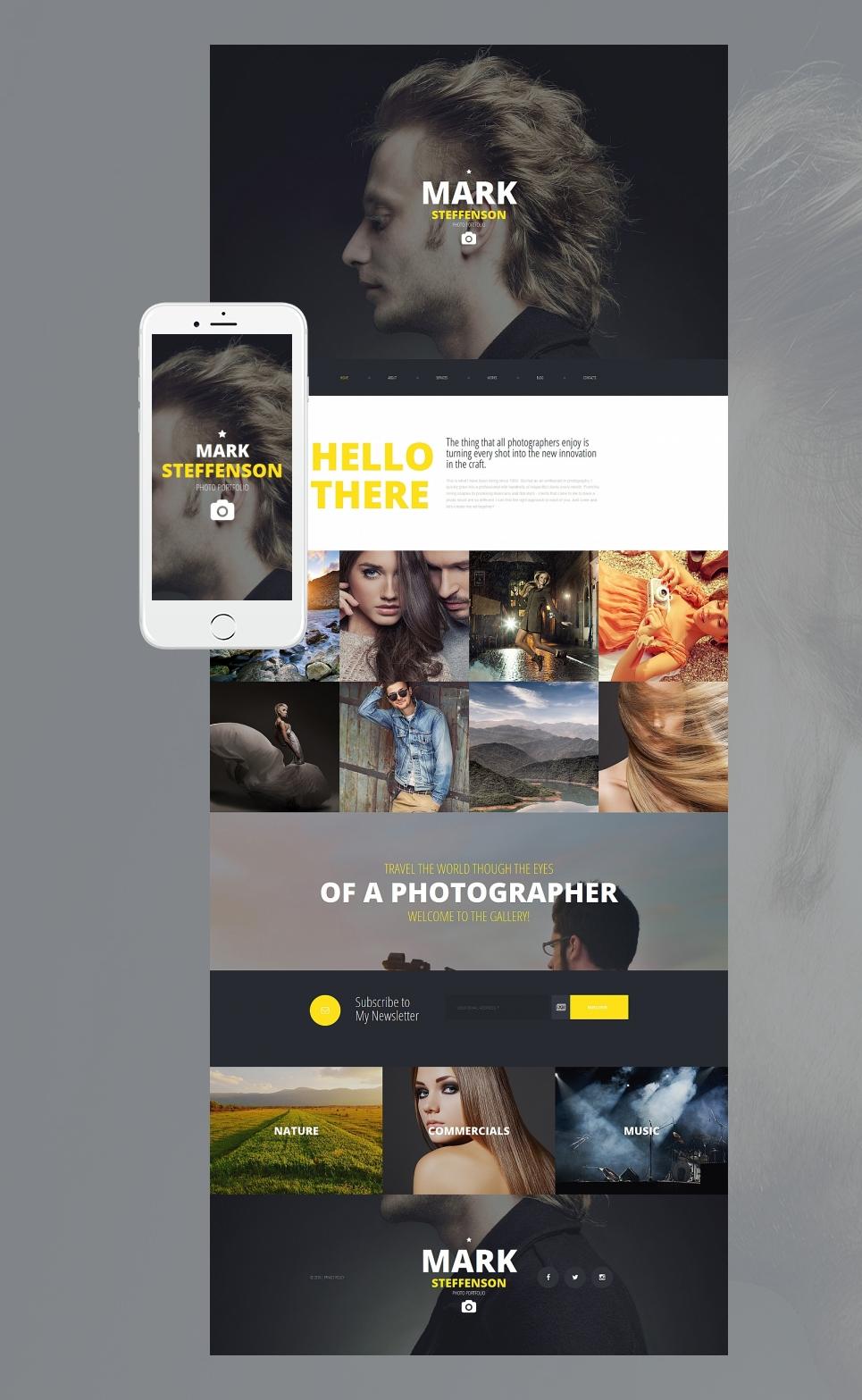 Diseño de un portfolio de fotos en línea con blog - image