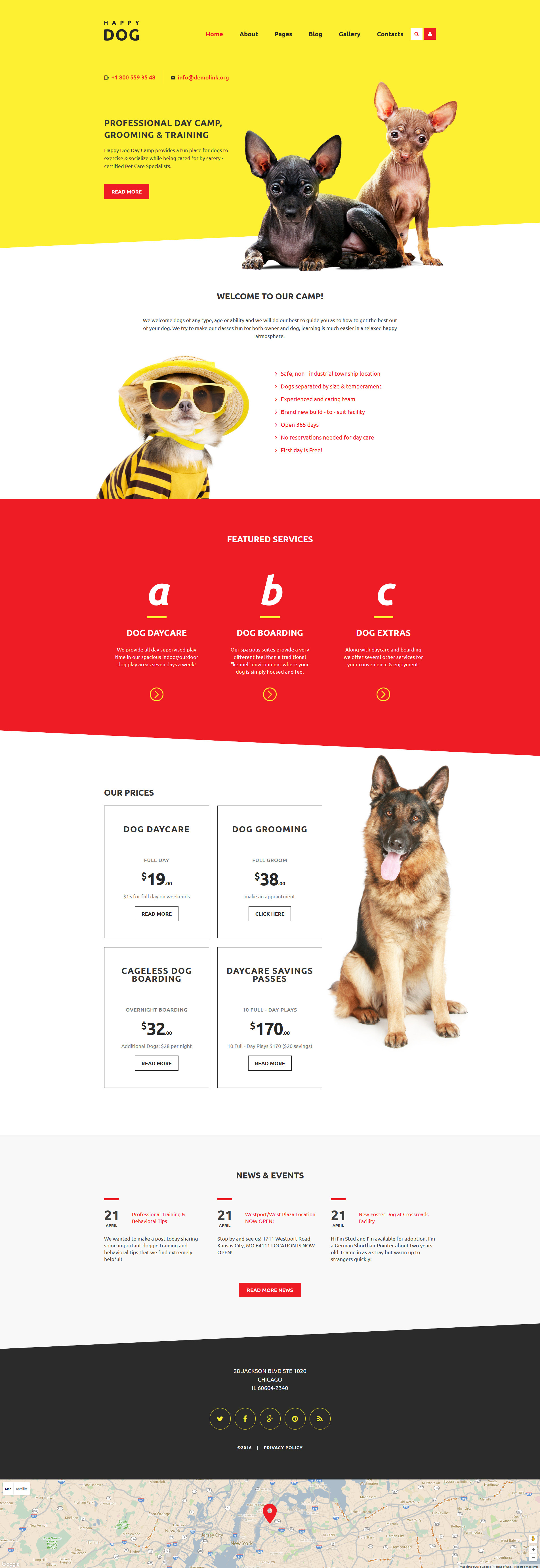 Free Dog Grooming WordPress Themes