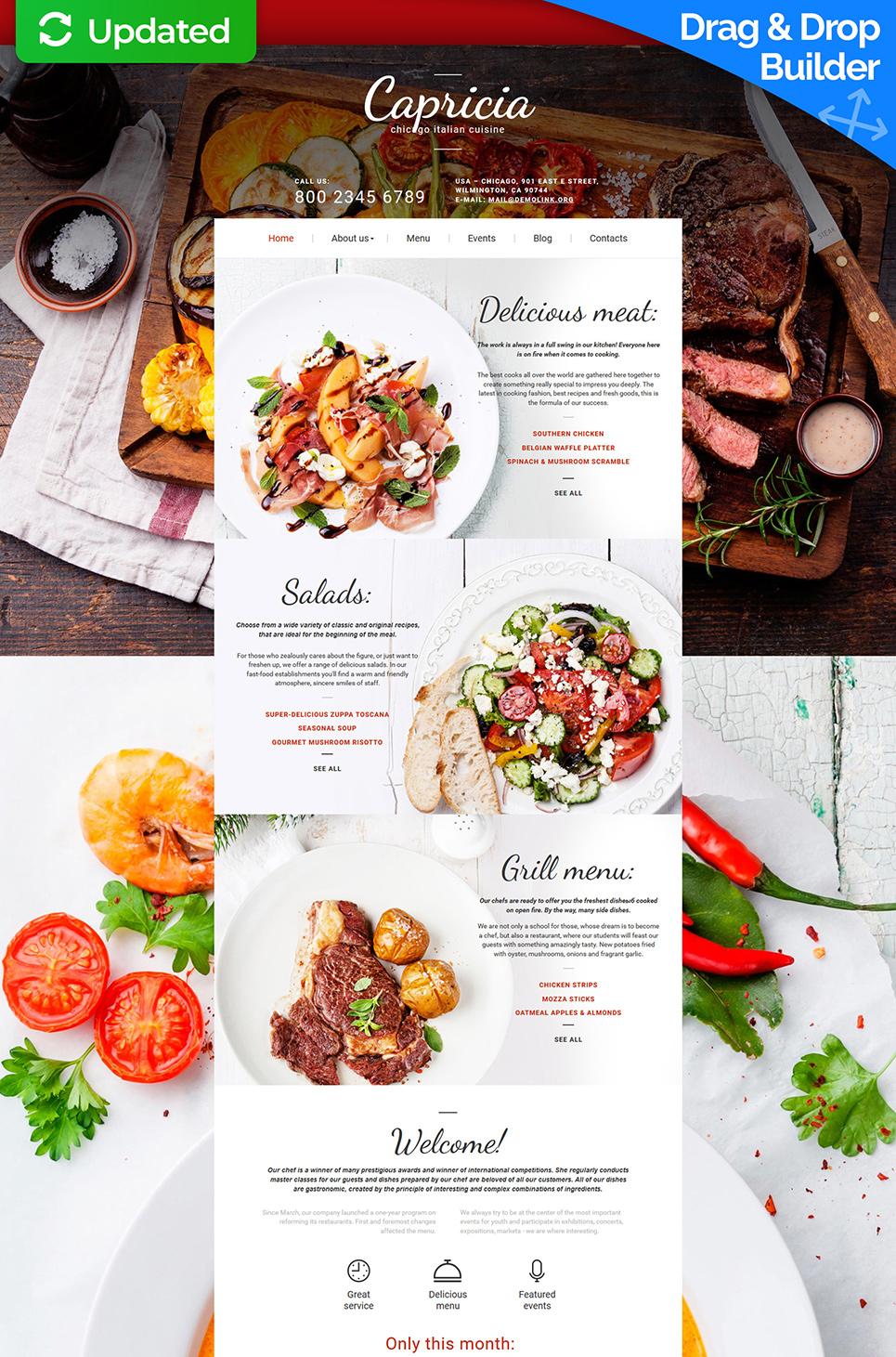 Creative theme for Italian restaurant site