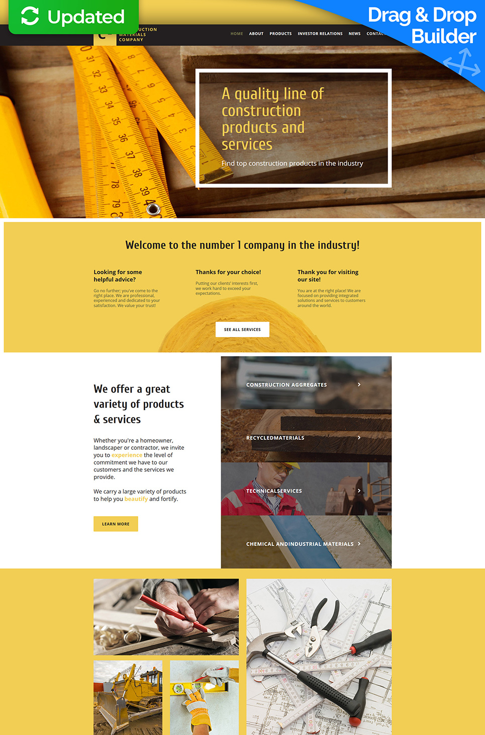 Yellowish site for construction companies