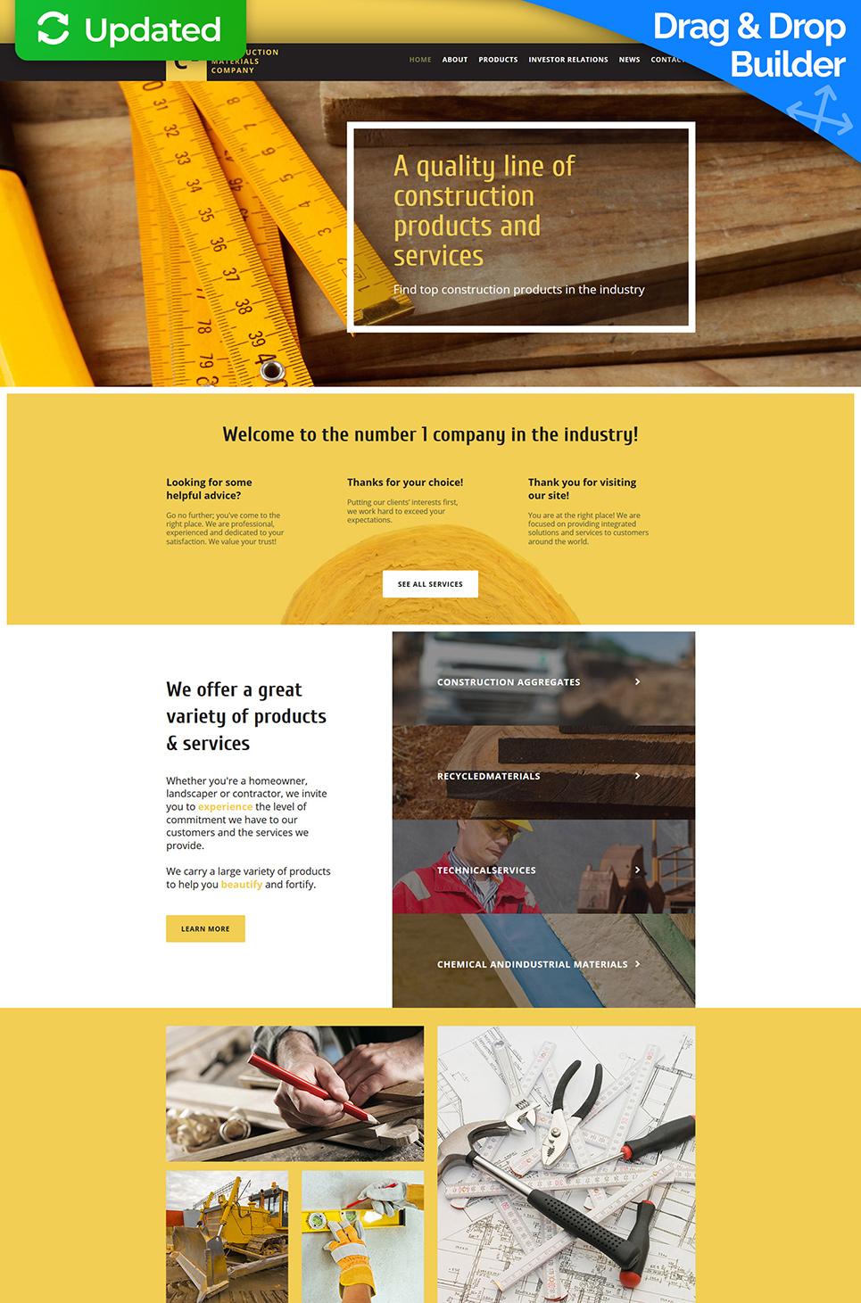 Plantilla de sitio web para los Contratistas de la construcción - image